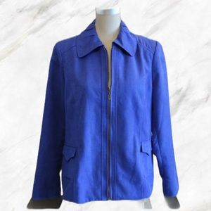 TanJay | Royal Blue Faux Suede Jacket